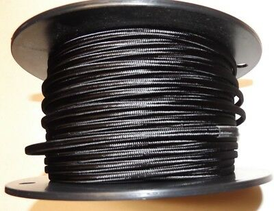 Black Parallel Rayon Covered Lamp Cord Antique Vintage Style 46634Jb