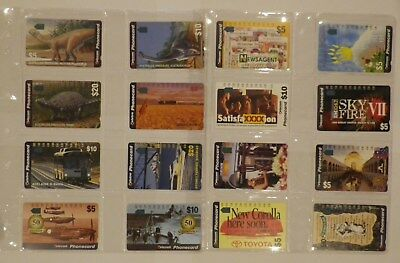 1990s Australia Telstra instant phonecard collection in sleeves MINT condition