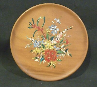 New Zealand KAURI PLATE, HANDPAINTED, KANGAROO PAW, BOTTLEBRUSH, PINK MYRTLE....