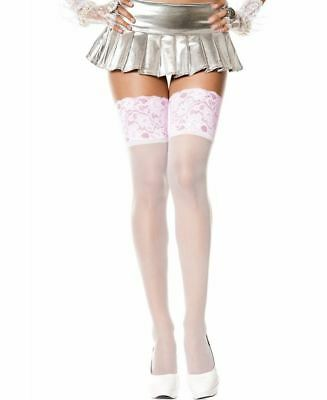 3af4bac57b3 NEW MUSIC LEGS 4118Q Plus Size Sheer Thigh High Stockings With ...