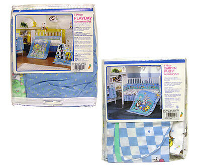 Baby Looney Tunes Gift Set Flannel Receiving Blanket, Crib Skirt, Diaper Stacker
