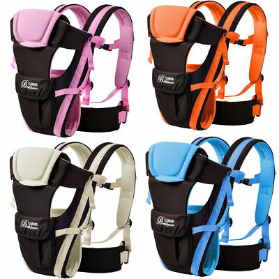 Newborn Baby Carrier Sling Wrap Backpack Front Back Chest Adjustable Buckle