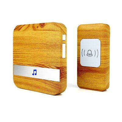 Four Horse Wood Grain Wireless Doorbell with 1 Receiver Plugin and 1 Remote at