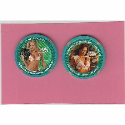 Hooters $25 New Years 2007 Michelle + $25 Hooters 2006 July 4 Marsha FREE SHIP