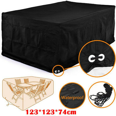 Waterproof Garden Outdoor Furniture Rain Cover Shelter For Cube Set Table Chair