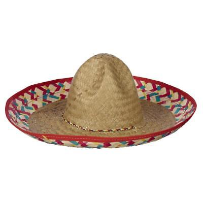 NEW Party Creator Mexican Sombrero Edged Hat By Spotlight