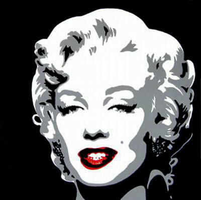 Hand Painted Modern Pop Art Wall Marilyn Monroe Oil Painting Canvas Contemporary