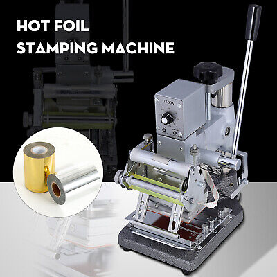 Manual Tipper Stamper PVC Card Hot Stamping Printing Machine with 2 Roll Foil