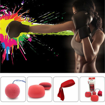 Fight Ball With Head Band For Reflex Speed MMA Training Boxing Punch Exercise AU