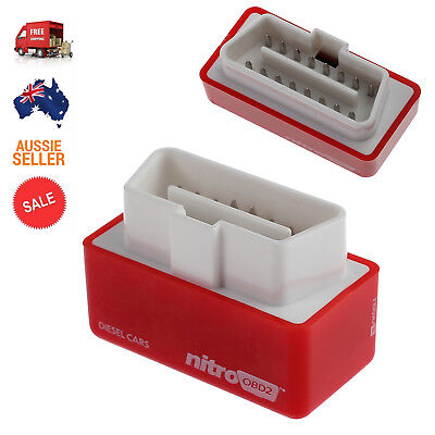 OBD2 OBDII Performance Tuning Chip Box For Diesel Car Vehicles Plug & Drive RED