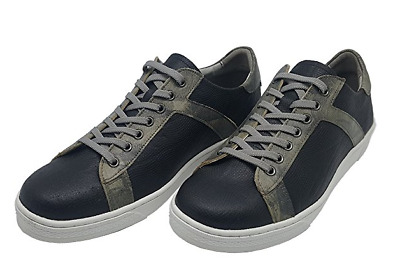 Felizzano Cow Leather Casual Sneakers, 879611 - 2 Colors-Navy and Brown