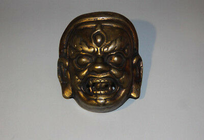 Amazing 19/20th Century Old Antique Tibet Buddhism Alloy Copper Offering Mask