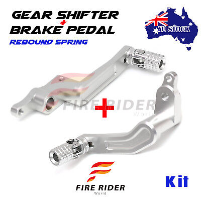 Silver Rear Brake Pedal Gear Shift Lever Set For 1299 Panigale 15-17 15 16 17