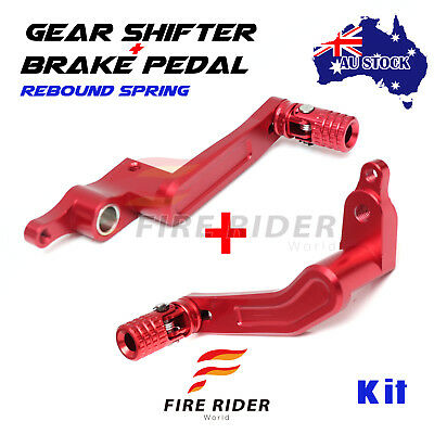 Red Rear Brake Pedal Gear Shift Lever Set For 1299 Panigale 15-17 15 16 17