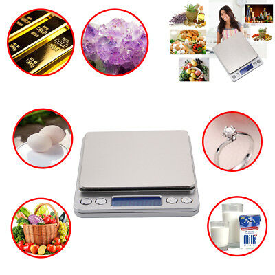 Stylish Silver LCD Pocket Scale for Weighing Gold Herbs Jewellery 0.01g-500g