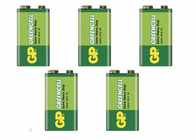 5 x GP GREENCELL EXTRA HEAVY DUTY 9V PP3 BATTERY