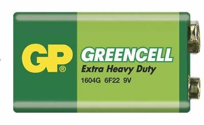 1 x GP GREENCELL EXTRA HEAVY DUTY 9V PP3 BATTERY