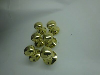 One (1) Vintage Pair Of Solid Brass Door Knobs Handles