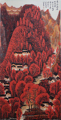 Excellent Chinese 100% Hand Painting & Scroll Landscape By Li Keran 李可染 FMQ1688