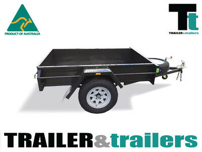 6x4 SINGLE AXLE DOMESTIC H/DUTY BOX TRAILER | SMOOTH FLOOR | FIXED FRONT