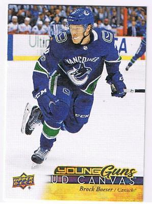 2017-18 Ud Canvas Young Guns U-Pick Free Combined Shipping Yg Rc Boeser Mcavoy