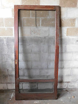 Antique Craftsman Style Screen Door - 1915 Oak Architectural Salvage