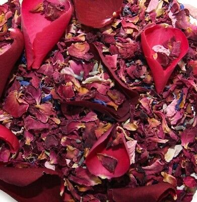 Wedding confetti, pink and ivory biodegradable delphinium natural petals.