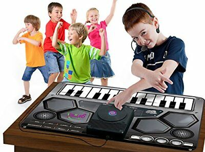 Toy Dj & Mic Piano Keyboard Play Mat Musical Toy Christmas Xmas Gift For Toddler
