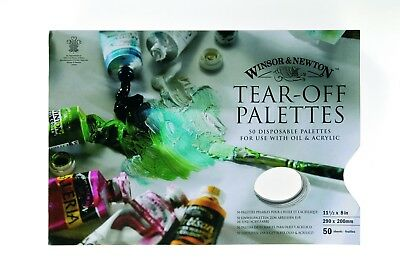 Winsor & Newton 50 Sheet Disposable Paper Tear-Off Paint Palettes 290 x 200 mm