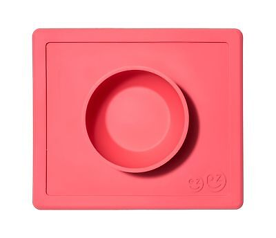 ezpz Happy Bowl - One-piece silicone placemat + bowl (Coral) Coral