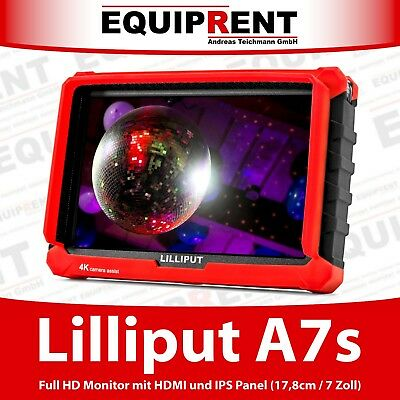 Lilliput A7s Full HD Monitor mit HDMI in/out, IPS, Peaking, False Color (EQD26)