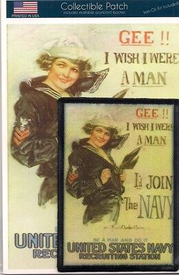 Gee I Wish I Were A Man WWI Navy Recruitment Poster Photo Christy Howard 3b52630