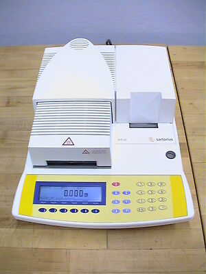SARTORIUS MA50 THERMOGRAVIMETRIC INFRARED MOISTURE ANALYZER w/Printer TESTED!!