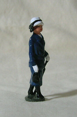 "Edwardian Woman with Umbrella, 2-1/4"" train layout figure, Reproduction Johillco"