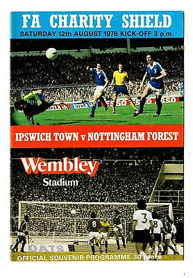 1978 Charity Shield Ipswich Town v Nottingham Forest