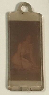 Vintage 50's Nude Girl plastic Key Chain or Pendent
