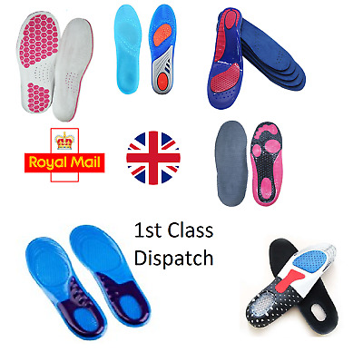 New Wide Range GEL Work Boot Feet Arch Support Orthotic RUN Shock Shoe Insoles