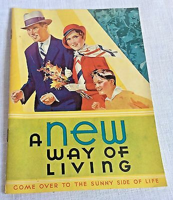 1932 Kellogg's Booklet A New Way of Living Health Brochure Vintage
