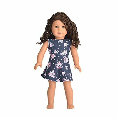 Doll Matching Dress Outfit Blue Fits American Girl & Other 18 Inches Dolls