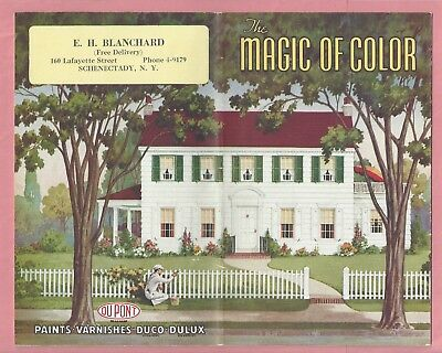 Dupont - 1938 The Magic of Color Paint Sample Brochure -  Paints  Varnishes