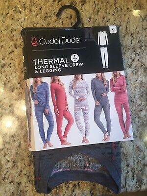 Cuddl Duds Womens Thermal 2 Pc. Set