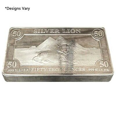 50 oz Generic Silver Bar .999 Fine (IRA-approved)