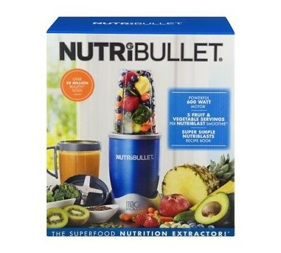 NutriBullet 8Piece Magic Bullet Superfood Nutrition Extractor Blue New NBR-0801B
