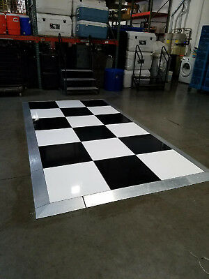Dance Floor, Black & White - Portable, with Edging - Good Condition!