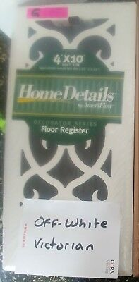 Hart and Cooley floor register 4x10 off-white victorian