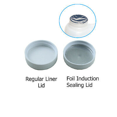 38/400 Polypropylene White Caps with Heat Induction Liner(10-100)