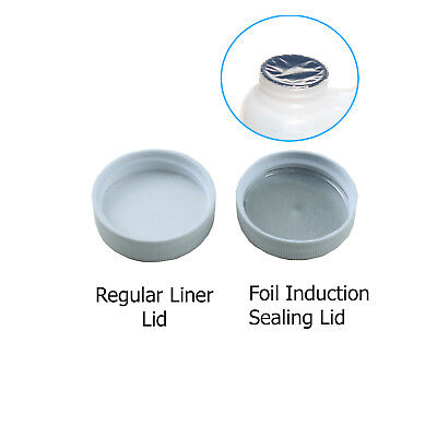 33/400 Polypropylene White Caps with Heat Induction Liner(10-100)