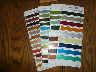 1971 1972 1973 974 Ford Motor Company Sherwin-Williams Color Chip Paint Sample