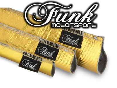 Funk Motorsport Gold Heat Sleeving sewn 15mm (Dia.) X 0.5m Length