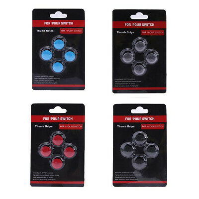 4 Silicone Thumb Grip Stick Cap Cover Protector Skin For Nintendo Switch Joy-Con